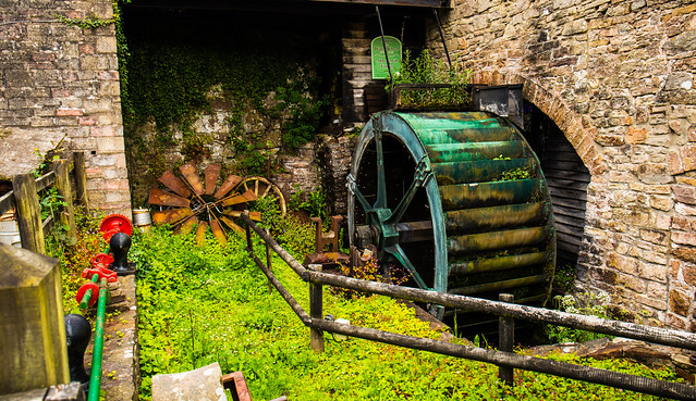The ancient Tintern Mill no longer in use but standing the test of time