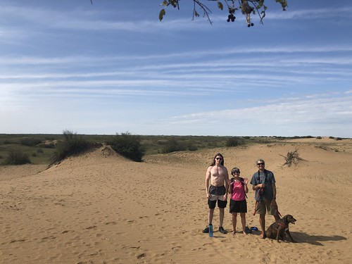 Douglas Provincial Park - all of us at the sand dune