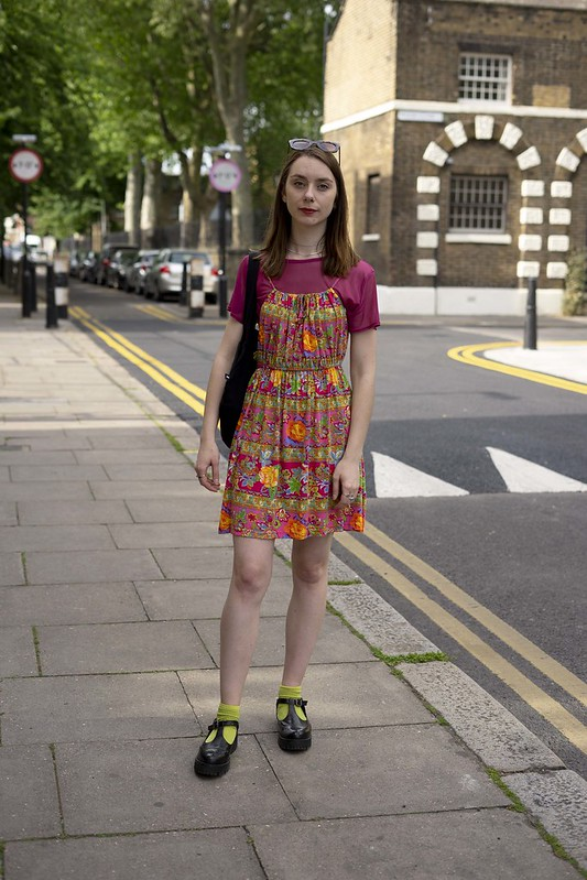 Printed Dress and a Mesh Tee