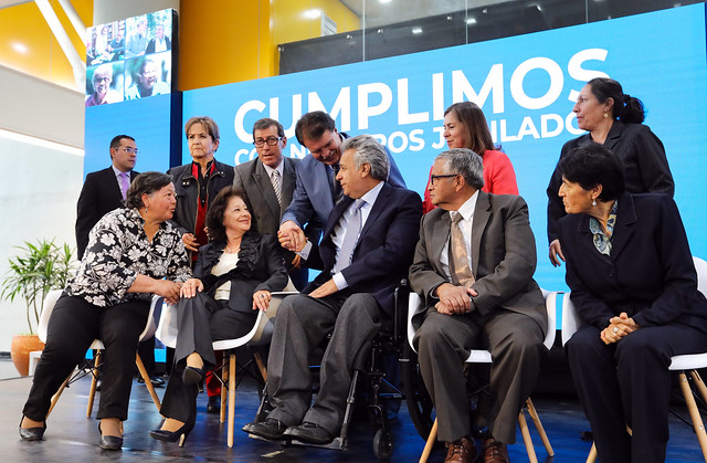 """""""CUMPLIENDO CON LOS JUBILADOS"""" SE VUELVE REALIDAD GRACIAS A LA VOLUNTAD POLÍTICA DEL GOBIERNO DE TODOS. QUITO, 13 DE AGOSTO DEL 2019."""