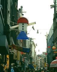 View of Kalverstraat Store Signs, Amsterdam, 2003