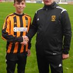Aiden Hendry with Coach Iain Ralston