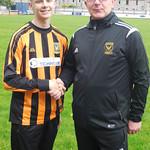 Matthew Begg with Coach Iain Ralston
