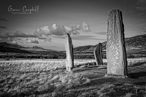ngc scotland alba sunset sundown stones standingstones neolithic mountains arran grass path pathway clouds sky machrie moor light hills trees campbell nikon d600 island isleofarran uk europe landscape vista