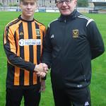 Greg Fowlie with Coach Iain Ralston