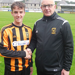 Connor Stuart with Coach Iain Ralston