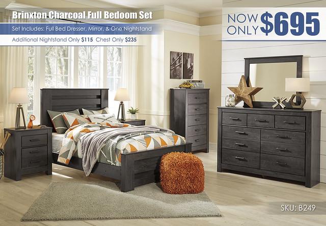 Brinxton Charcoal Full Bedroom_B249
