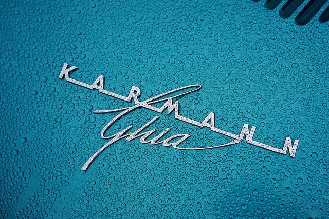 Karmann Ghia in the rain