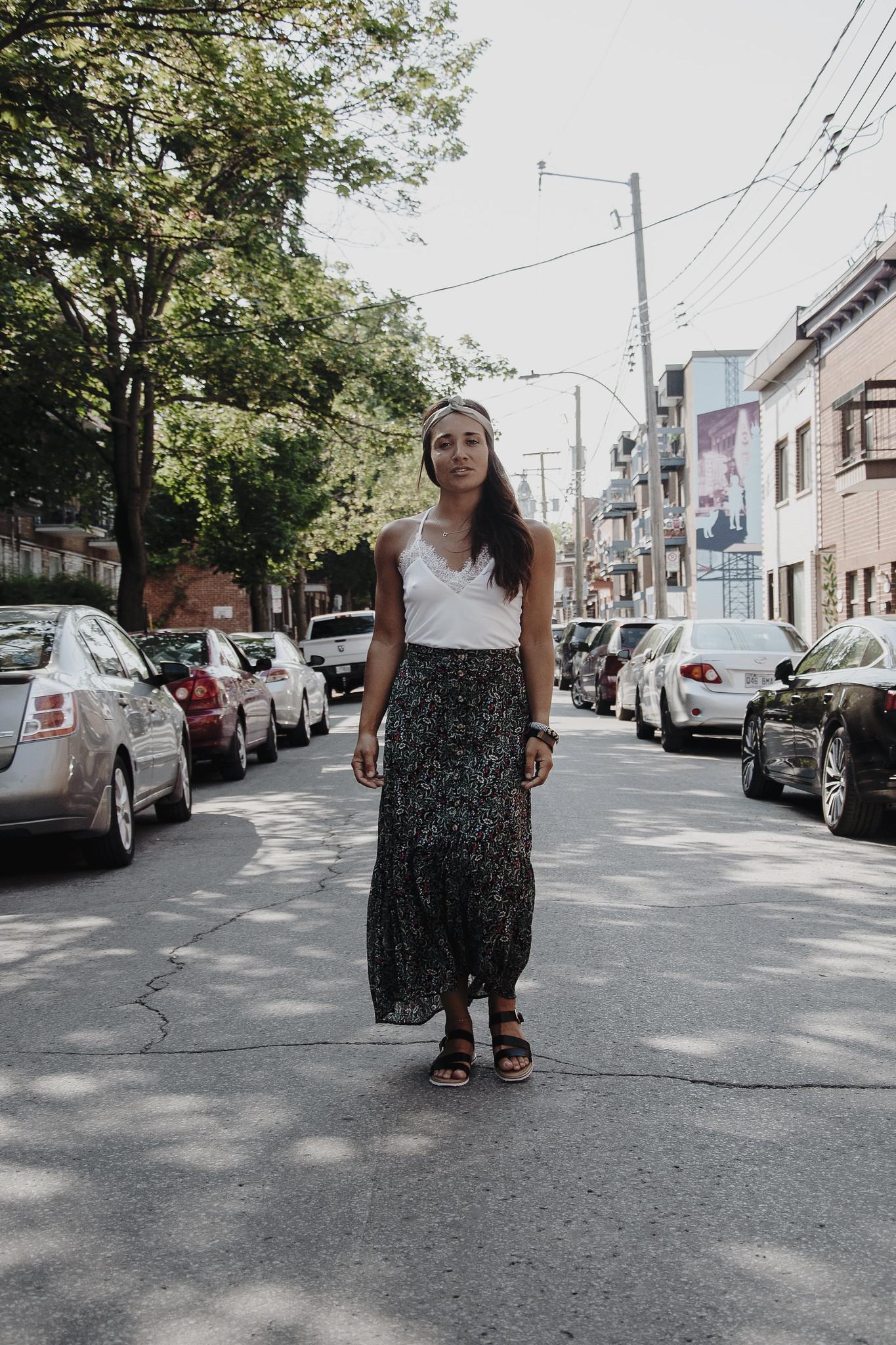 camille dg jupe longue rue