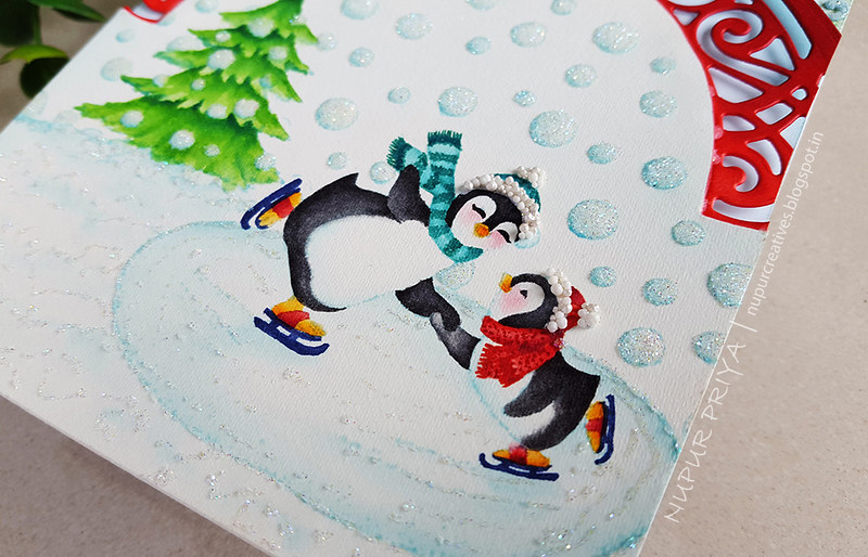 No-Line Watercoloring and Ice Skating Penguins_Nupur Priya_4