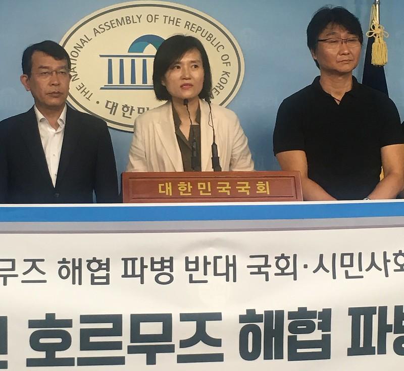 20190814_호르무즈 해협 파병 반대 국회기자회견