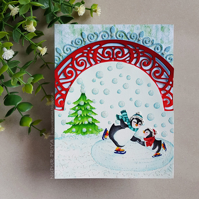 No-Line Watercoloring and Ice Skating Penguins_Nupur Priya_1