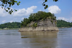 Tower Rock in the Mississippi, Perry County, Missouri
