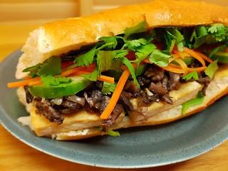 Shredded Mushroom & Tofu Banh Mi
