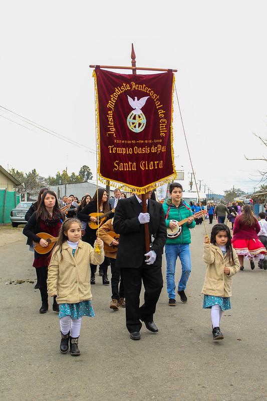 Iglesia de Santa Clara participa en la celebración del Aniversario N°148 de su pueblo