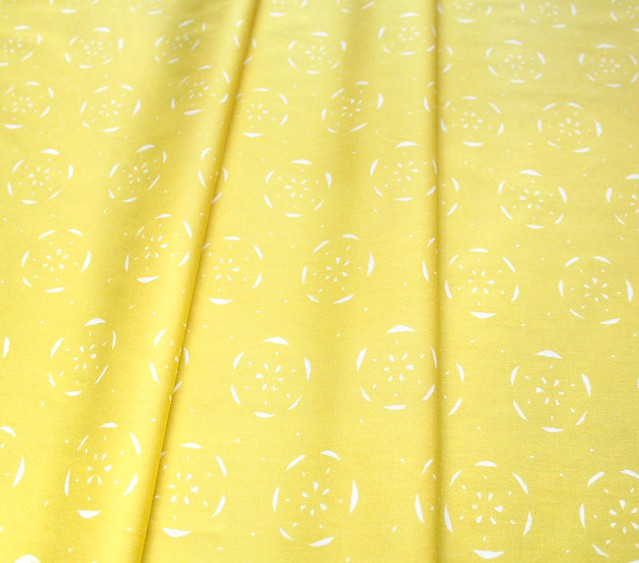Art Gallery Fabrics Floralish Citrus Limon