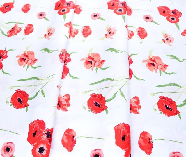 Art Gallery Fabrics Floralish Poppy Reflections