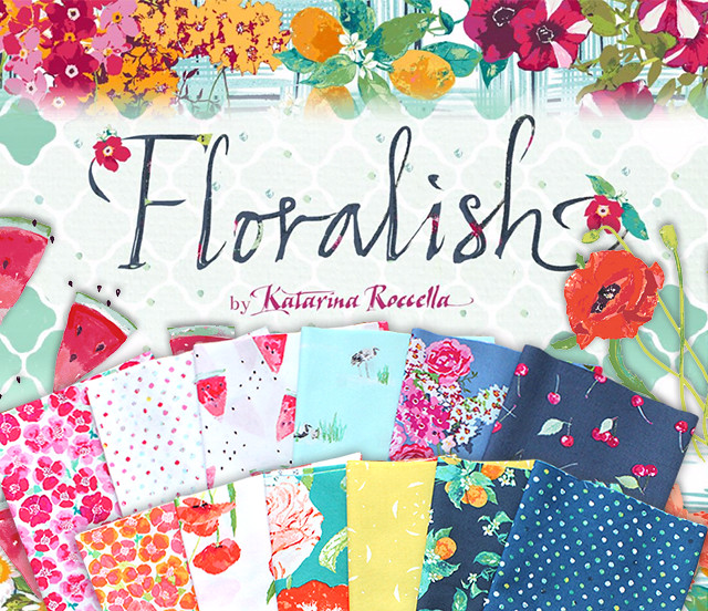 Art Gallery Fabrics Floralish Collection by Katarina Roccella