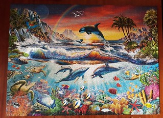 Paradise Cove by Adrian Chesterman, 3000 pieces, Castorland. Size 92 x 68 cm, № С-300396, 2016.
