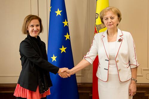 14.08.2019 Întrevederea Președintelui Parlamentului, Zinaida Greceanîi, cu Milana Rikanovic, reprezentanta UN Women în Moldova