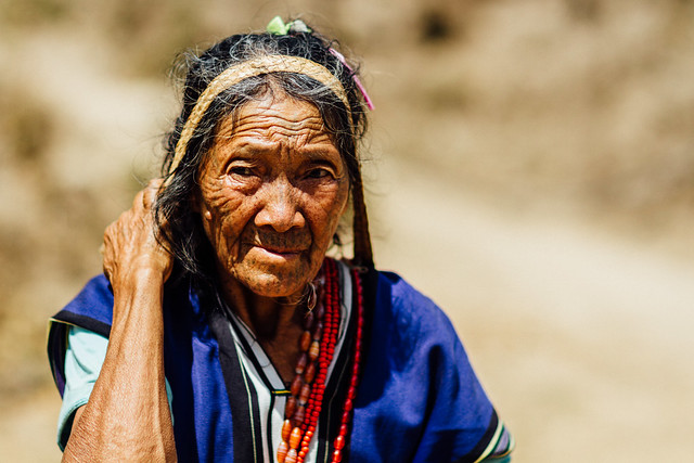 M'uun Tribal Woman With Tattooed Face, Mindat, Chin State Myanmar