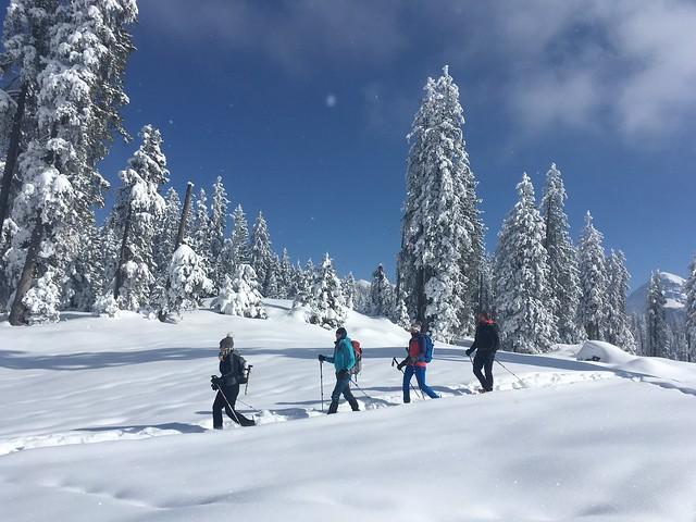 Sneeuwschoenwandelen in de Berchtesgadener Alpen
