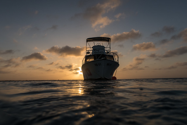 Gorgeous end of a dive on Bonaire in the Caribbean