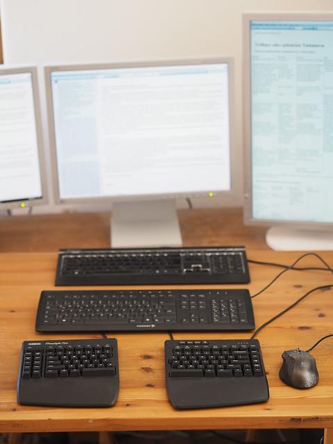 Schreibtisch Büro Geteilte Tastatur © Desk Home Office Split Keyboard Workstation Computer PC ©