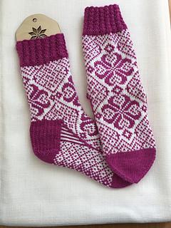 hjertelig til stede sokker