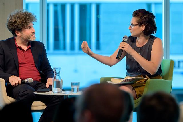 Jan Plamper (Autor und Professor für Geschichte am Goldsmiths College, London), Ferda Ataman (Journalistin, Autorin) Foto: Stephan Röhl
