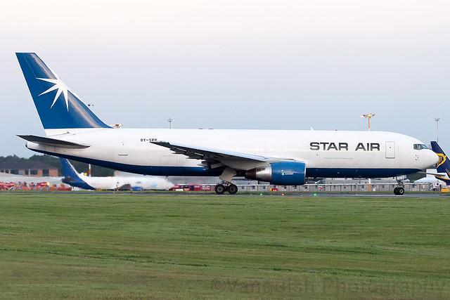 OY-SRN Star Air B767-200 East Midlands Airport
