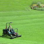 Grass cutting at Miller Park, Preston