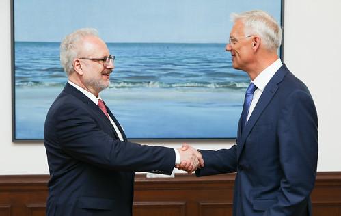 Valsts prezidenta Egila Levita tikšanās ar Ministru prezidentu Krišjāni Kariņu