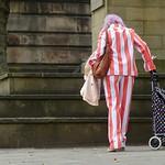 Colourful suit candid in Preston