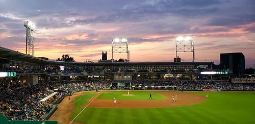sunset baseball hartford yardgoats stadium crowd dunkindonuts dunkin