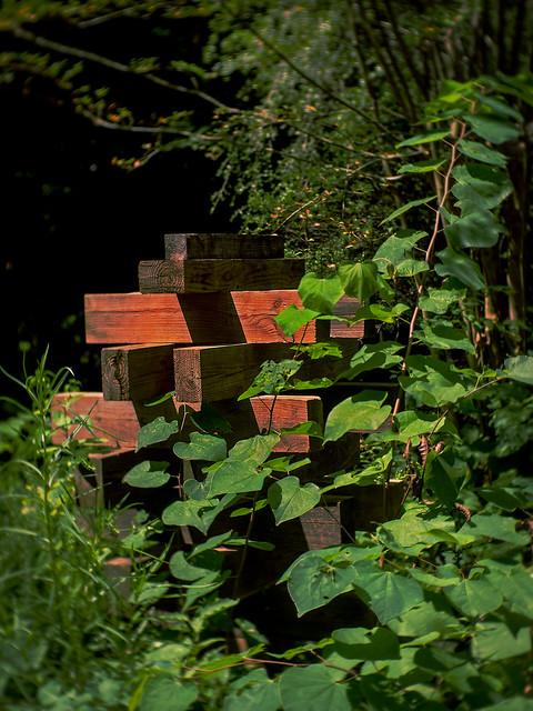 Jenga in a garden?