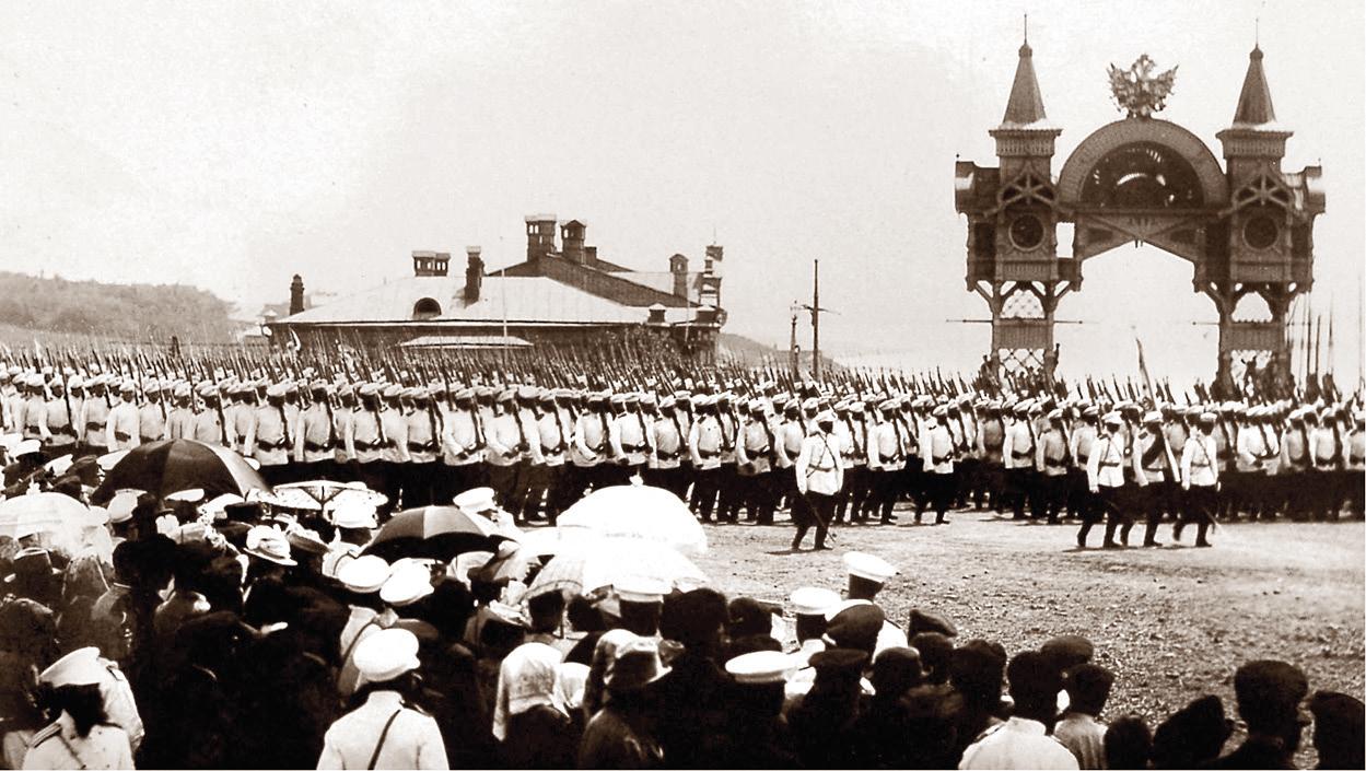 05. 1891. Хабаровка. Парад гарнизона на Соборной площади