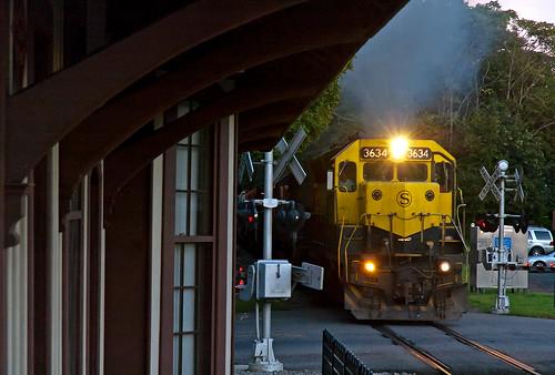 emd sd45 nysw3634 susquehanna su99 nysw maywoodnj maywoodstation train railfan railroad