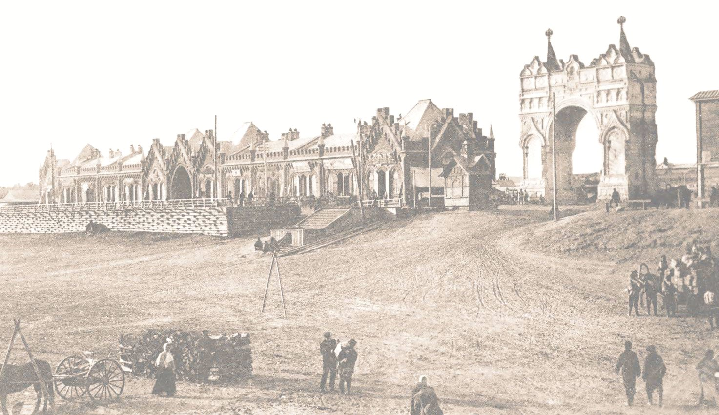 19. 1891. Благовещенск. Триумфальная арка, воздвигнутая в честь визита цесаревича. 4 июня