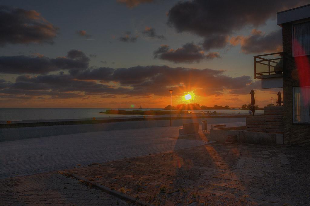 Sonnenuntergang Makkum Promenade