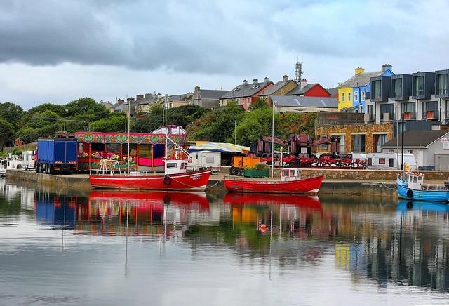 Fishing boats at the fun-fair