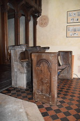 stall (15th century) and bench (19th Century)
