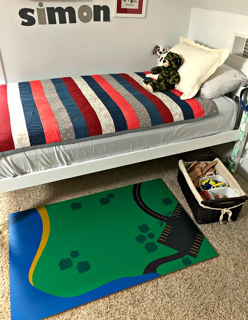 train table under the bed
