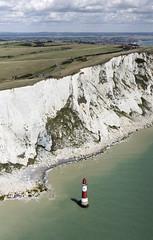 Beachy Head Lighthouse aerial image