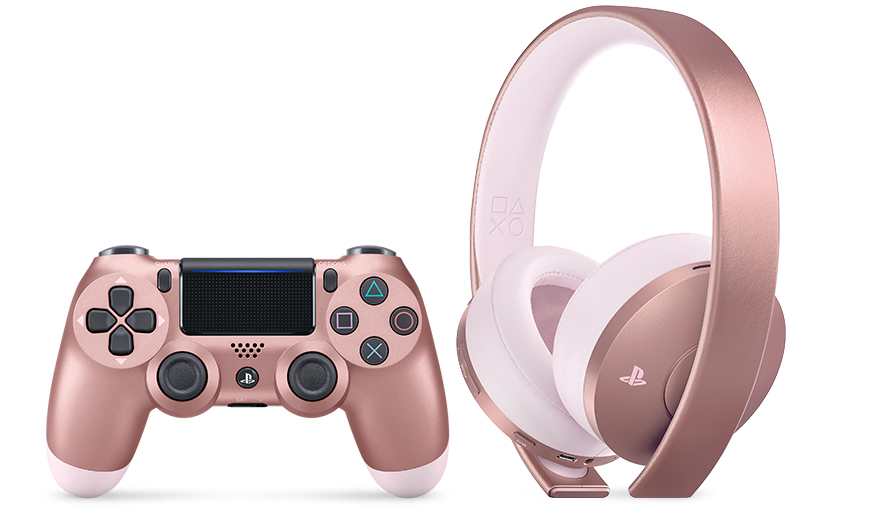 Rose Gold Edition Headset and PS4 Dualshock 4