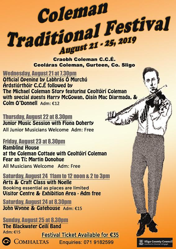 Coleman Festival 2019 poster1