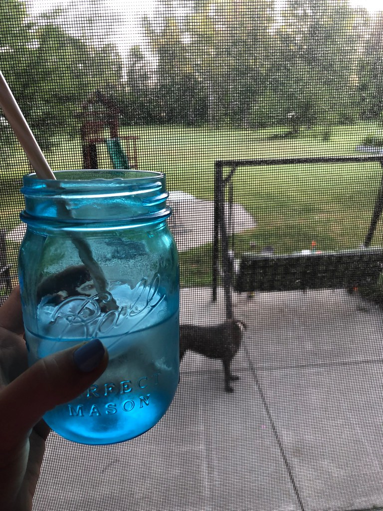 mason jars as water glasses