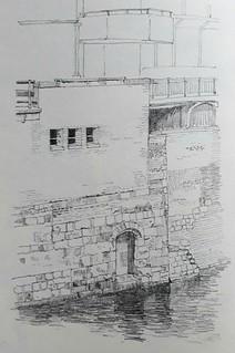 Water gate, York (#DrawingAugust, day 13)