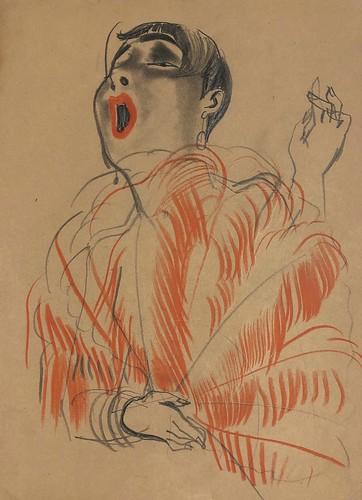 Erna Schmidt-Caroll, Chansonette (Singer), c.1928 © Estate Erna Schmidt-Caroll.