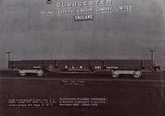 Africa Railways - Sierra Leone Railway - SLR bogie-type flat wagon (Gloucester Railway and Carriage Works, December 1913)